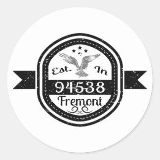 Established In 94538 Fremont Classic Round Sticker