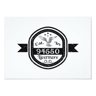 Established In 94550 Livermore Card