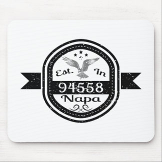 Established In 94558 Napa Mouse Pad