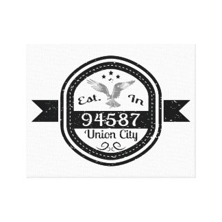 Established In 94587 Union City Canvas Print