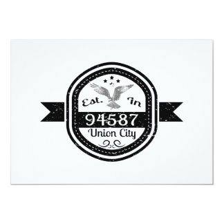 Established In 94587 Union City Card