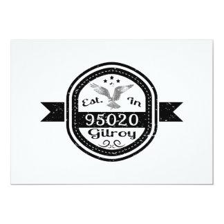 Established In 95020 Gilroy Card