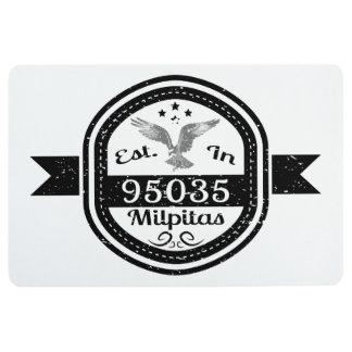 Established In 95035 Milpitas Floor Mat