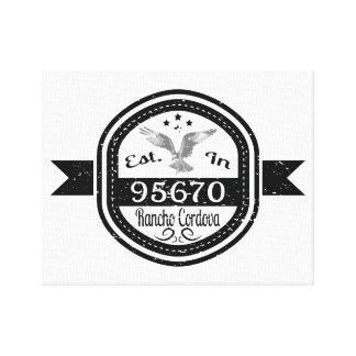 Established In 95670 Rancho Cordova Canvas Print