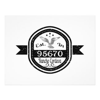Established In 95670 Rancho Cordova Full Color Flyer