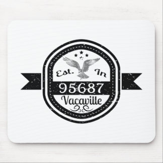 Established In 95687 Vacaville Mouse Pad