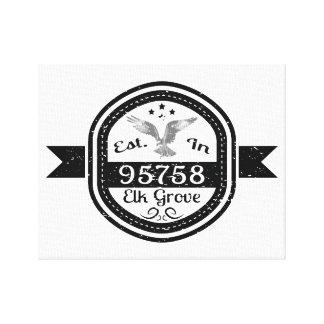 Established In 95758 Elk Grove Canvas Print