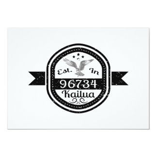 Established In 96734 Kailua Card
