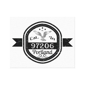 Established In 97206 Portland Canvas Print