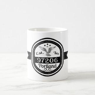 Established In 97206 Portland Coffee Mug