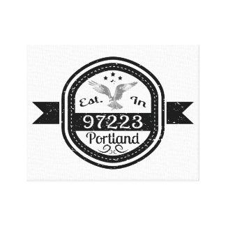 Established In 97223 Portland Canvas Print