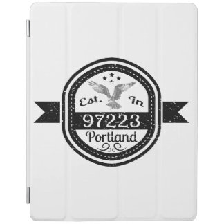 Established In 97223 Portland iPad Cover