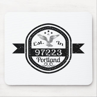 Established In 97223 Portland Mouse Pad