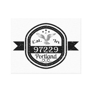 Established In 97229 Portland Canvas Print