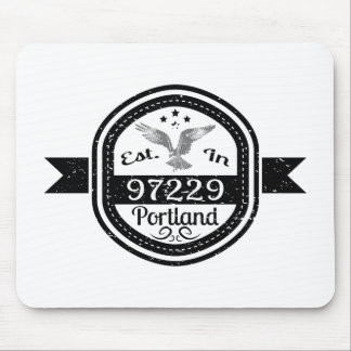 Established In 97229 Portland Mouse Pad