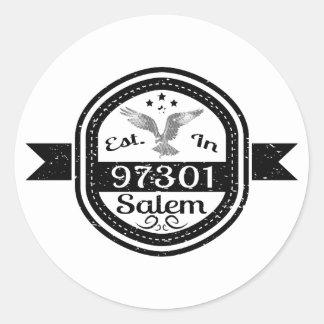 Established In 97301 Salem Round Sticker