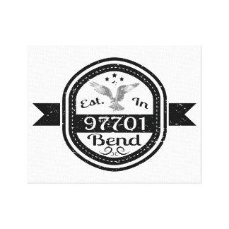 Established In 97701 Bend Canvas Print