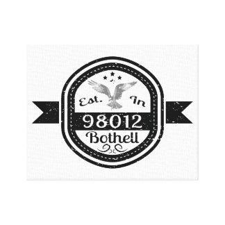 Established In 98012 Bothell Canvas Print