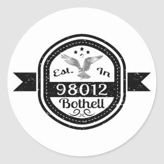 Established In 98012 Bothell Classic Round Sticker