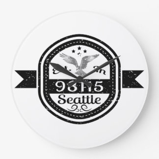 Established In 98115 Seattle Clock