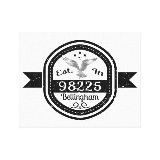 Established In 98225 Bellingham Canvas Print