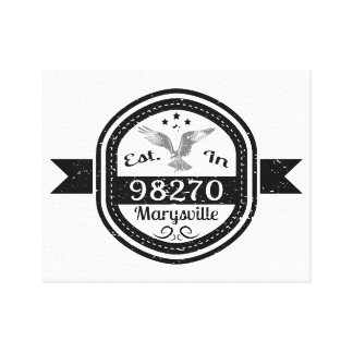 Established In 98270 Marysville Canvas Print