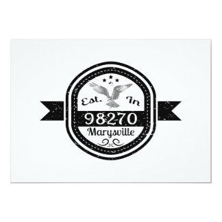 Established In 98270 Marysville Card