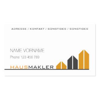 Estate agent pack of standard business cards