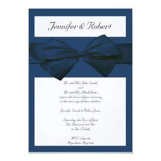 Estate Collection Marine Blue Wedding Invitation