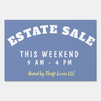 Estate Sale Event Customizable Yard Sign