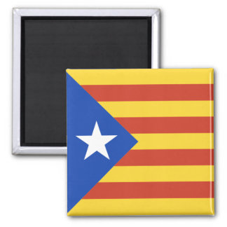 Estelada - Catalan Flag with the Star Magnet