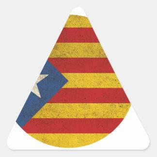 Estelada Catalonia Lliure Triangle Sticker
