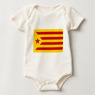 Estelada Roja - Bandera independentista Catalana Baby Bodysuit