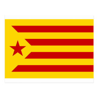 Estelada Roja - Bandera independentista Catalana Postcard