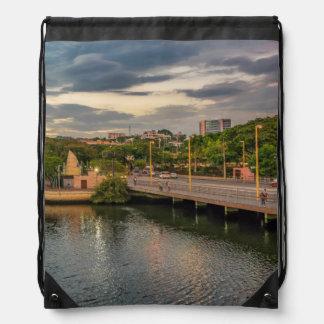 Estero Salado River Guayaquil Ecuador Drawstring Bag
