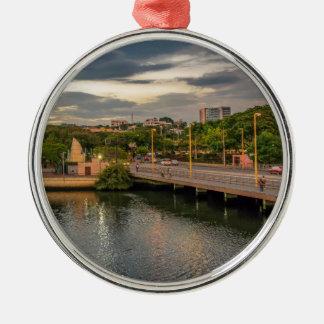 Estero Salado River Guayaquil Ecuador Silver-Colored Round Ornament