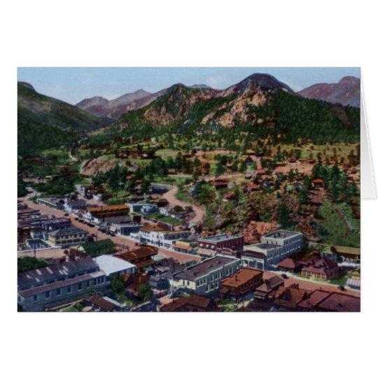 Estes Park Colorado Birdseye View Card