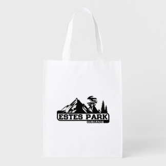 Estes Park Colorado Reusable Grocery Bag