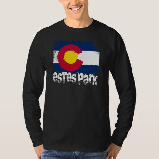 Estes Park Grunge Flag T-Shirt