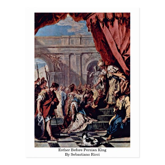 Esther Before Persian King By Sebastiano Ricci Postcard