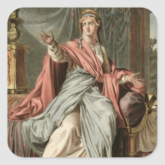 Esther, costume for 'Esther' by Jean Racine, from Square Sticker