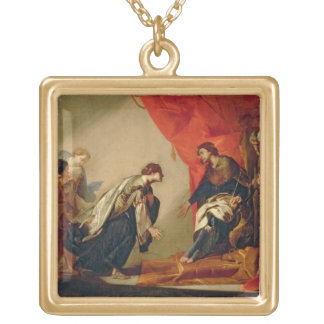 Esther in front of Ahasuerus, c.1645-50 (oil on ca Gold Plated Necklace