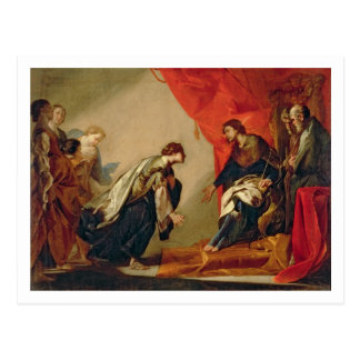 Esther in front of Ahasuerus, c.1645-50 (oil on ca Postcard