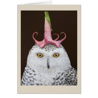 Esther the snowy owl card
