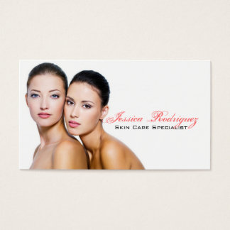 Esthetician Beauty Skincare business cards