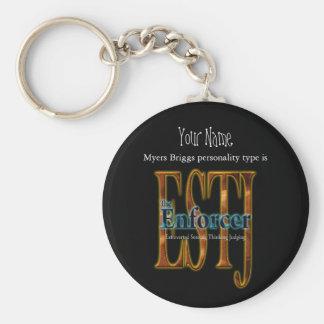 ESTJ theEnforcer Basic Round Button Keychain