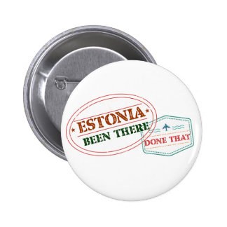 Estonia Been There Done That 2 Inch Round Button