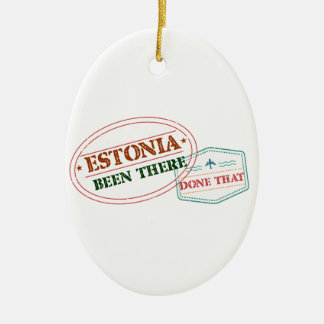 Estonia Been There Done That Ceramic Oval Ornament