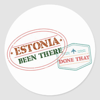 Estonia Been There Done That Classic Round Sticker