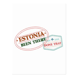 Estonia Been There Done That Postcard